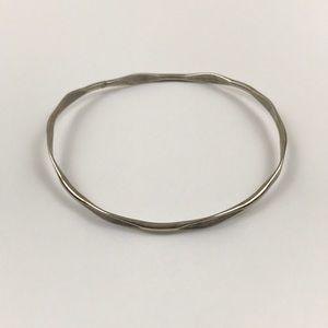 Vintage Simple Silver Bangle Bracelet